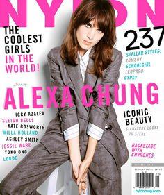 NYLON October 2013 featuring Alexa Chung