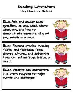 Example of teacher/student versions of common core language Common Core Reading Standards, Common Core Ela, Love Teacher, Teacher Stuff, Too Cool For School, School Stuff, I Can Statements, Second Grade, Grade 2