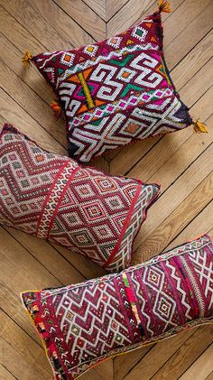 Vintage Moroccan Pillows by Loom & Field on Etsy                                                                                                                                                                                 More