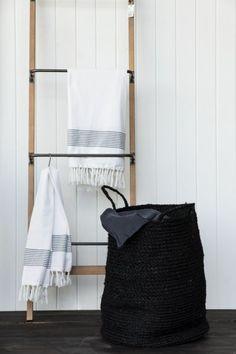 Trendhopper ○ Stoer robuust wandrek Siem, ladder, zwart metaal ...