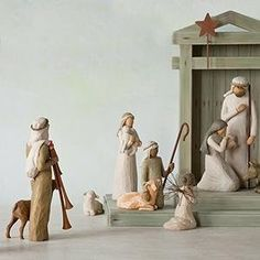 Nativity Figurines from Willow Tree. Shop our four classic nativity sets as well as numerous nativity figurines. Official site of Willow Tree by Susan Lordi. Willow Tree Nativity, Willow Tree Angels, Hand Carved, Hand Painted, Metal Stars, Holy Family, Collectible Figurines, Tree Toppers, New Baby Gifts