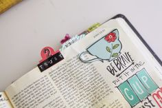 shanna noel: Journaling Bible | Put it in the cup Start to finish process with my journaling bible
