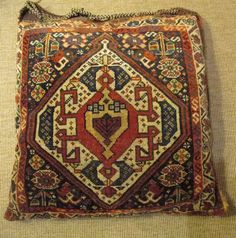 Antique South Persian (Afshar) piled bag  50 x 55 cm In the collection of Anthony Sargeant