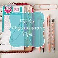 Some good tips on organization