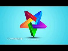Colorful 3D Star Logo Design in Adobe illustrator CC | Ju Joy Design Bangla - YouTube