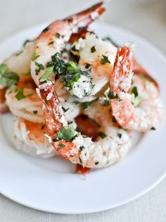 Roasted Basil Butter Parmesan Shrimp I drooling