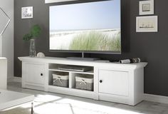 Westerland TV Stand for TVs up to Tv Wanddekor, Dresser With Tv, Home Entertainment Centers, Tv Wall Decor, Living Room Decor Cozy, New Home Designs, Living Room Inspiration, Home Decor Styles, Adjustable Shelving