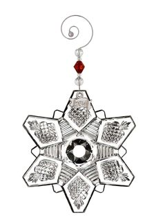 Waterford  Annual Snow Crystal Pierced Ornament Waterford Ornaments Xmas Tree Decorations Waterford Crystal