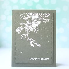 """""""Many thanks"""" card with stamps set from Altenew - """"The best mom"""""""