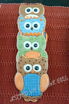 FALL, owls, mushrooms, trees by Cookie Bliss (Laurie), via Flickr