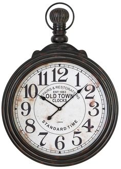 "Aspire 39"" Pocket Watch Style Large Wall Clock"