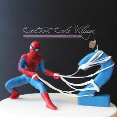 Spider-Man Topper - Cake by Eliana Cardone - Cartoon Cake Village
