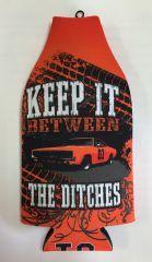 "Bottle Koozie ""Keep It Between The Ditches"" (Orange)"