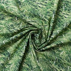 Printed Cotton Green Grass Print Cotton Fabric