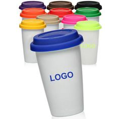 Double Wall Ceramic Tumbler has 11 oz. capacity, made of strengthen porcelain that has smooth surface and fine gloss that can print your logo clearly, practical and popular in office and for house use