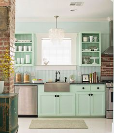 Decorando en color menta · Decorating with mint