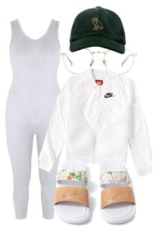 """Untitled #2942"" by ma-rae ❤ liked on Polyvore featuring NIKE, Linda Farrow and October's Very Own"