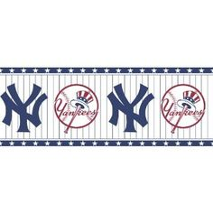 Yankees Office Wall Paper Border