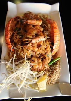 Lobster Pad Thai is served at Thai Avenue Restaurant.