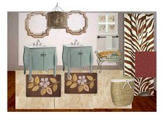 My second Olioboard - decided to try a bathroom! Lynne Bier @ Home on the Range Interiors