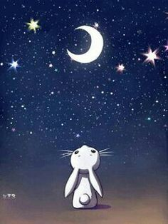 The perfect Bunny Stars Moon Animated GIF for your conversation. Discover and Share the best GIFs on Tenor. Animiertes Gif, Animated Gif, Gifs, Beau Gif, Lapin Art, Illustration Manga, Night Gif, Good Night Moon, Bunny Art