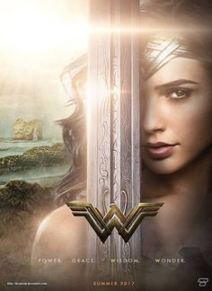 Gal Gadot As Wonder Woman Movie Poster. Wonder Woman Art, Gal Gadot Wonder Woman, Wonder Woman Movie, Wonder Women, Power Girl, Super Heroine, Beste Comics, Gal Gabot, Comic Kunst