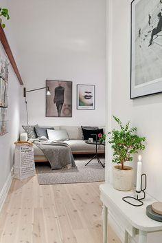 Condo Living, Home And Living, Living Room Decor, Living Spaces, Gray Interior, Decor Interior Design, Living Room Inspiration, Home Decor Inspiration, Scandinavian Home