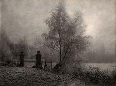 Untitled (Landscape with Gate) by Léonard Misonne 1923: