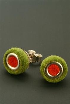 Felt Earrings -- Anette Wilhelmi of Gnu Design