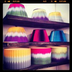 How amazing are these lampshades by Copper and Silk