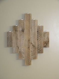 Reclaimed Wall Art    Holder Dimensions:  APPROX: 30 tall x 30 wide    Battery operated tea lights not included