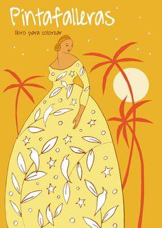 Fallas illustration Coloring book  Fallas , ilustraciones libro para colorear