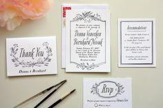 How To DIY Wedding Invitations A Practical Wedding: Blog Ideas for the Modern Wedding, Plus Marriage