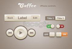 Coffee iPhone Retina App Controls