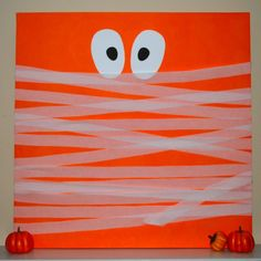 DIY Halloween: DIY Halloween Canvas (Mummy Version): DIY Halloween Decorations