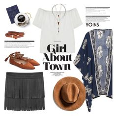 """""""Girl about town"""" by purpleagony on Polyvore featuring MANGO, Jules Smith, Arche and Passport"""