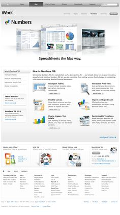 Apple - iWork - Numbers - New in Numbers '08 (11.10.2007)