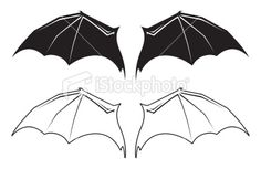 Black And White Bat Wing Illustrations Wings Sketch, Wings Drawing, Free Vector Art, Pumpkin Halloween Costume, Vampire Bat, Creature Concept, Bat Wings, Fantasy Art, Costumes