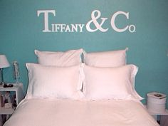 Tiffany Blue Bedroom With Tiffany U0026 Co. Wall Lettering