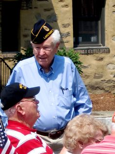 WWII Veterans at the Memorial Day Service