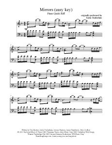 Mirrors - Justin Timberlake (easy key). Find more free sheet music at www.PianoBragSongs.com.