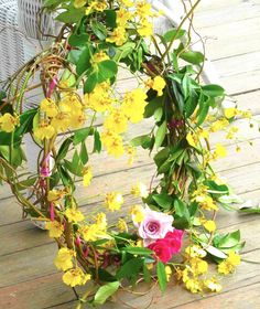 wreath of summer flowers