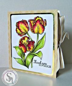 Dream Laine: Creating a 'Thank You' box - tutorial with Spectrum Noir Illustrators. #spectrumnoir #tutorial #markers #floral #giftbox