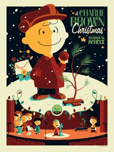 A Charlie Brown Christmas. Poster by Tom Whalen.