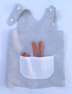 Young gardener pinafore. I. by AdatineClothing on Etsy Fully natural. Created specially for home dyeing.