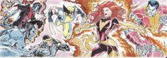 Marvel Premier • X-Men: Wolverine, Cyclops, Colossus • Sketch Card by Rain Lagunsad