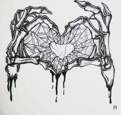 skeleton hand halloween art drawing inktober black ink dotwork tattoo idea illustr 4 art drawing Cool Men Tattoo Design Ideas On 2019 Tattoos are a permanent part. Skeleton Drawings, Skeleton Art, Cool Drawings, Heart Drawings, Skeleton Tattoos, Halloween Kunst, Halloween Drawings, Tattoo Sketches, Tattoo Drawings