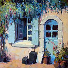 ۩۩ Painting the Town ۩۩ city, town, village & house art - Trisha Adams