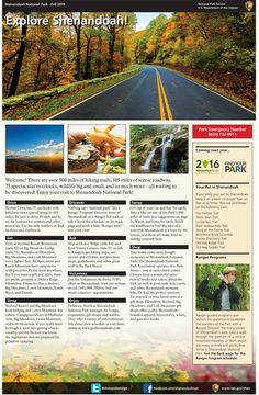 shenandoah national park brochure - Google Search