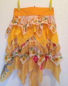 Apron Vintage Handkerchief by BohemianMisfits on Etsy, $36.00